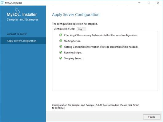 Apply Server Configuration
